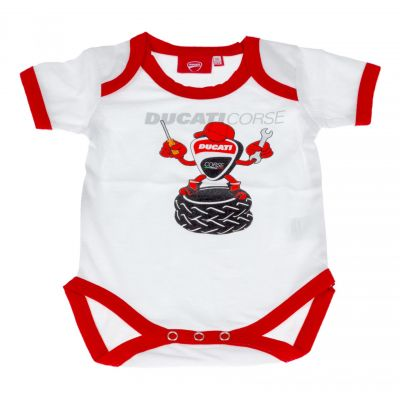 Grenouillère bébé Ducati Racing blanc