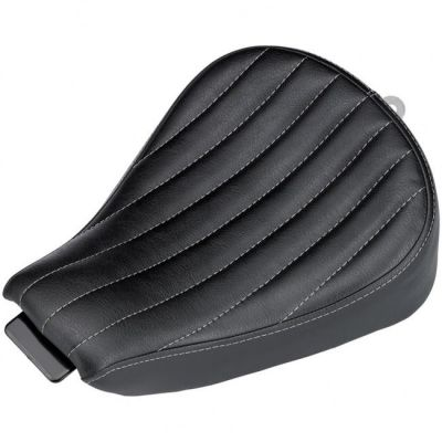 Selle Biltwell Sporty-8 Harley Davidson Sportster 10-18 noire coutures verticales