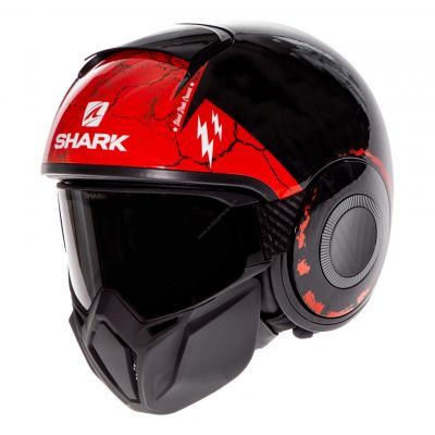 Casque jet Shark Street-Drak Crower noir/anthracite/rouge