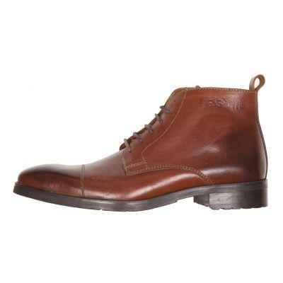 Chaussures moto Helstons Heritage marron ciré
