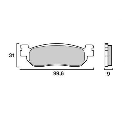 Plaquettes de frein Brembo 07043XS métal fritté arrière
