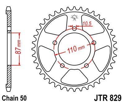 Couronne JT Sprockets Acier pas 530 47 dents - Pour Suzuki GSF 650 Bandit 05-06