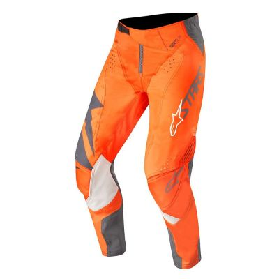 Pantalon cross Alpinestars Techstar Factory anthracite/orange fluo