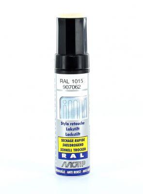 Pinceau retouche peinture Ivoire clair brillant acrylique RAL 1015 Motip 12 ml M907062