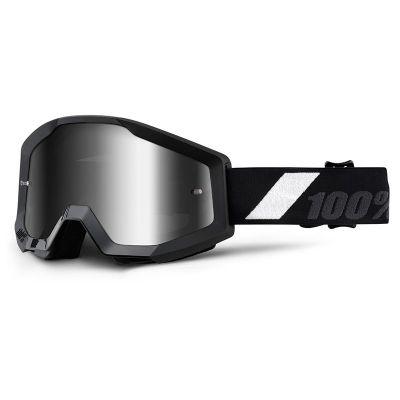 Masque cross 100% STRATA GOLIATH mirror silver lens noir