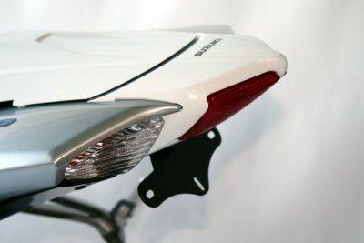 Support de plaque d'immatriculation R&G Racing noir Suzuki GSX-R 600 08-10