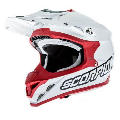 Casque cross Scorpion VX 15 EVO AIR Blanc/Rouge