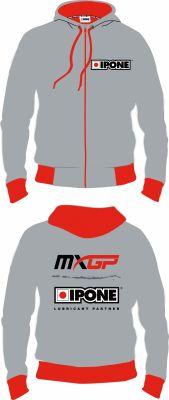 Sweat à capuche Ipone MXGP gris