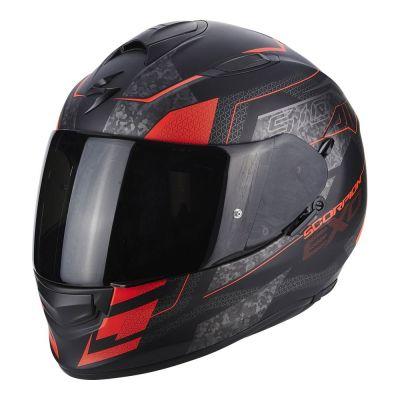 Casque intégral Scorpion EXO-510 AIR Galva noir mat/rouge fluo