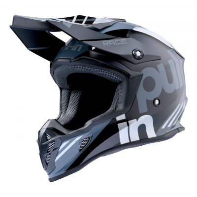 Casque cross Pull-in Race gris/argent