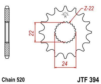 Pignon JT Sprockets Acier pas 520 17 dents - Pour Aprilia RX 125 93-97