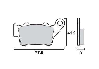 Plaquettes de frein Brembo métal fritté 07BB02SD