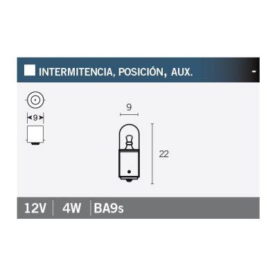 Ampoule Vicma BA9S 12V 4W