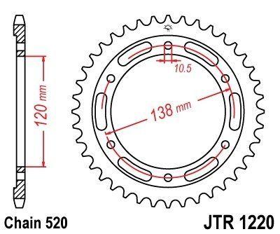 Couronne JT Sprockets Acier pas 520 38 dents - Pour Honda CBR 250 R 11-13