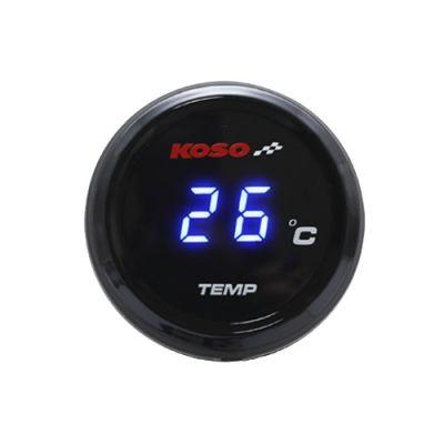 Compteur de température Koso I-Gear affichable bleu