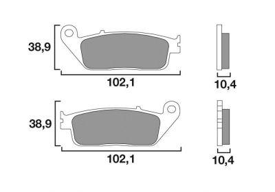 Plaquettes de frein Brembo 07096XS métal fritté avant