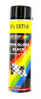 Bombe Peinture noir brillant Motip 500ml