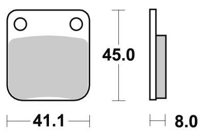 Plaquettes de frein SBS céramique 100HF