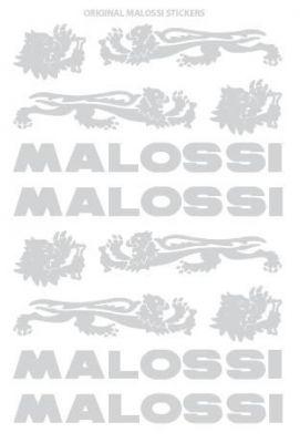 Planche autocollants Malossi Chromé