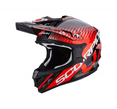 Casque cross Scorpion VX-15 EVO AIR SIN noir/rouge fluo