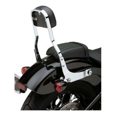 Sissybar amovible Cobra tube carré chromé 35,5 cm Harley Davidson FXBB 1745 Softail Street Bob 18-19