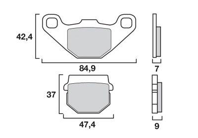 Plaquettes de frein d'origine Brembo carbone-céramique 07KA0717