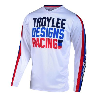 Maillot cross Troy Lee Designs GP Air Premix 86 blanc