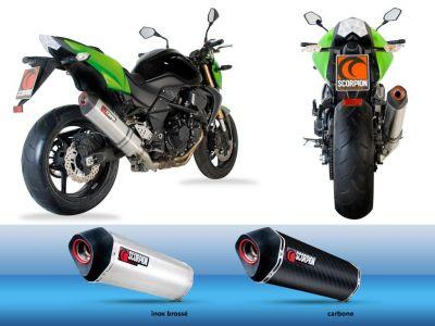 Silencieux homologué Scorpion Serket parallèle Carbone pour Kawasaki Z750 07-11