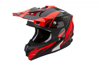 Casque cross Scorpion VX 15 EVO AIR Krush Fluo Rouge