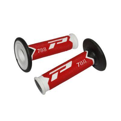 Revêtements de poignées 788 Progrip rouge/blanc/noir