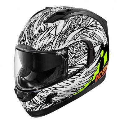 Casque intégral Icon Alliance GT Bird Strike blanc/noir