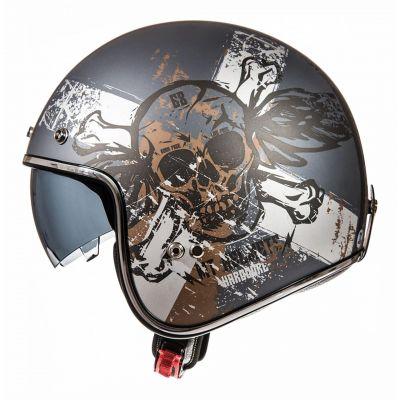 Casque jet MT Helmets Le Mans 2 SV Hardcore gris / marron