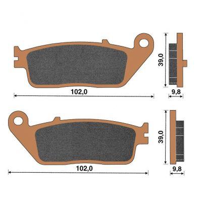 plaquette de frein c ramique avant x citing 400 pi ces freinage sur la b canerie. Black Bedroom Furniture Sets. Home Design Ideas