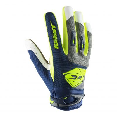 Gants cross Kenny Track navy/lime