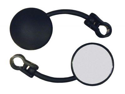 Rétroviseur gauche Round Mini Enduro fixation guidon Ø 22 mm repliable