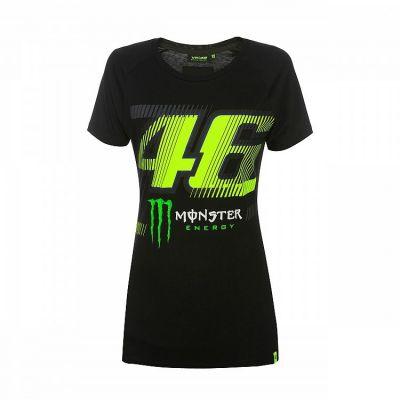 Tee-shirt femme VR46 Valentino Rossi Monza Monster Dual noir/jaune 2019