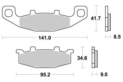 plaquettes de frein brembo carbone c ramique 07su1005 pi ces freinage sur la b canerie. Black Bedroom Furniture Sets. Home Design Ideas