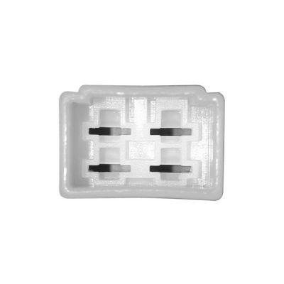 Connectique pour régulateur rectangulaire femelle - 4 cosses mâles moyennes