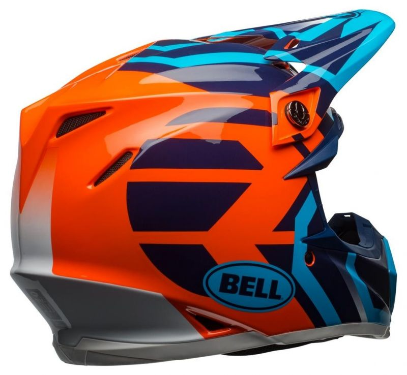 Casque cross Bell Moto 9 Mips Gloss bleu/orange district - 5