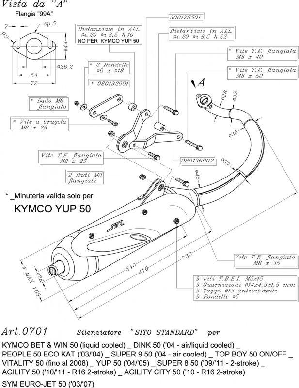 pot d chappement sito pour kymco agility 50 2t rt16 10 12 pi ces echappement sur la b canerie. Black Bedroom Furniture Sets. Home Design Ideas