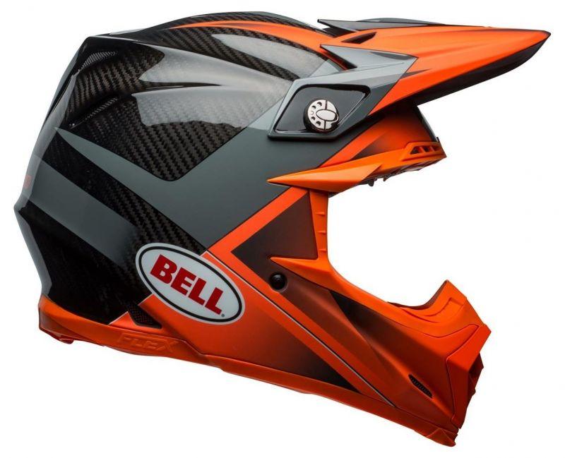 Casque cross Bell Moto 9 Flex Hound Gloss orange mat/charcoal - 7