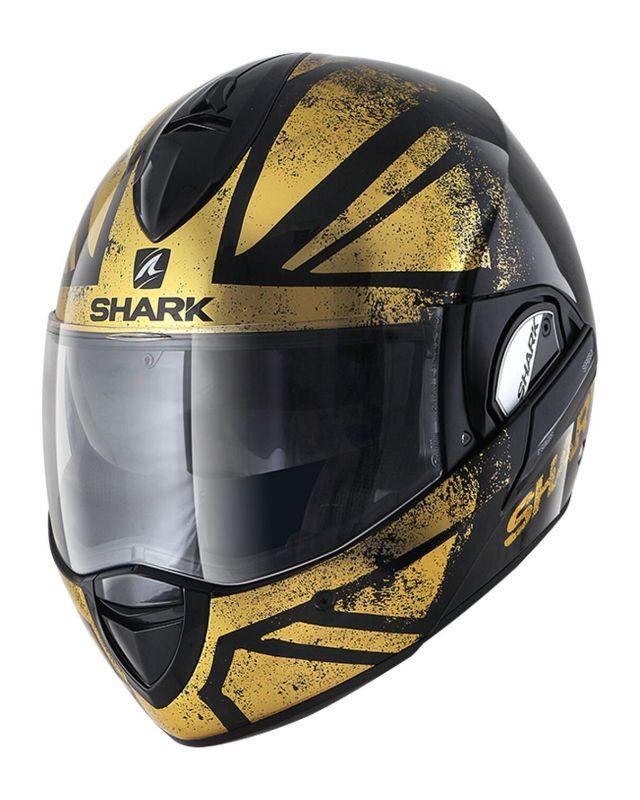 Casque Modulable Shark Evoline 3 Tixer Noirchromeor Casques Moto