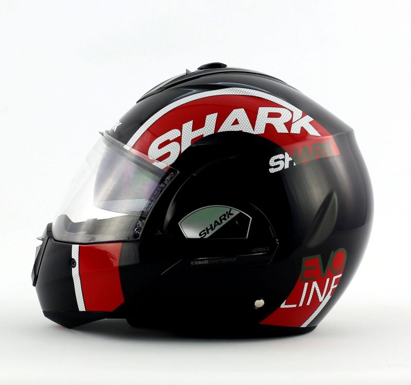 casque modulable shark evoline 3 drop noir rouge blanc pi ces casques moto sur la b canerie. Black Bedroom Furniture Sets. Home Design Ideas