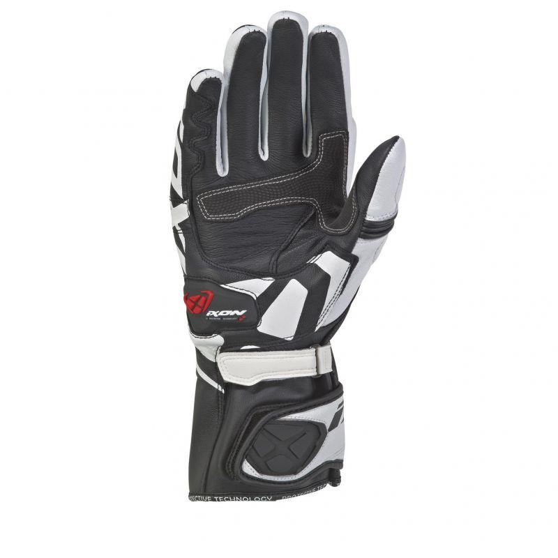 Gants été cuir Ixon RS Circuit 2 noir/blanc - 1