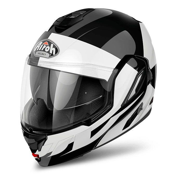 Casque Modulable Airoh Rev 19 Fusion Blanc Brillant Casques Moto