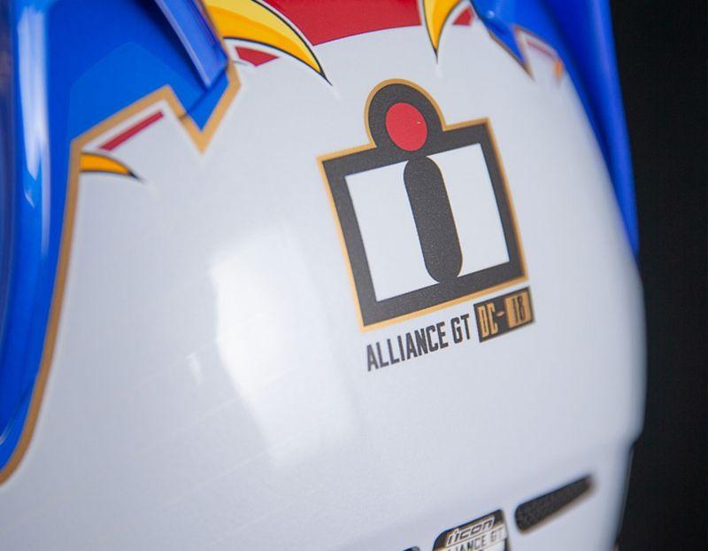 Casque intégral Icon Alliance GT DC18 Glory bleu/blanc/rouge - 3