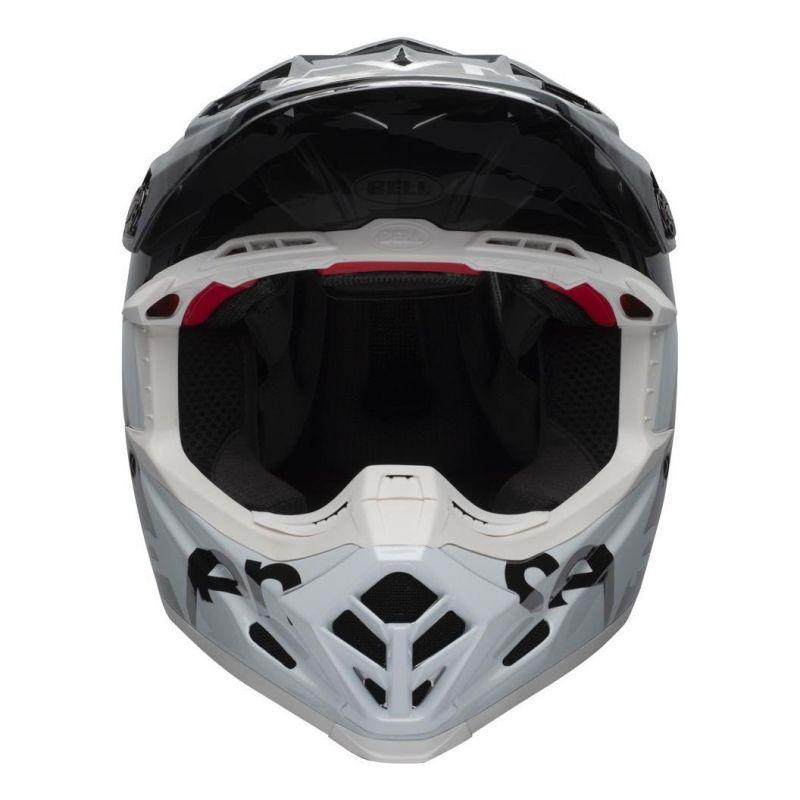 Casque cross Bell Moto-9 Flex Seven Zone noir/blanc/chrome - 1