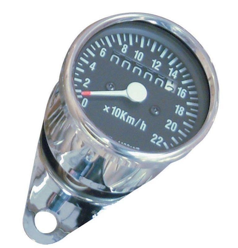 Mini compteur de vitesse Ø65 mm chromé
