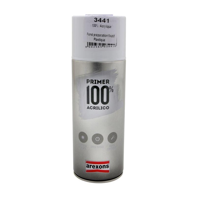 Bombe apprêt Arexons spécial plastique gris 400ml