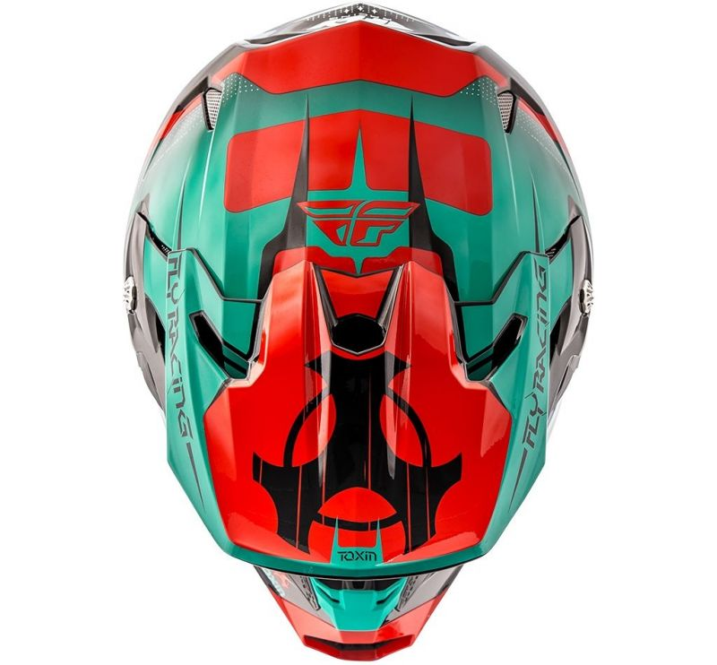 Casque cross Fly Racing Toxin rouge/bleu/noir - 2